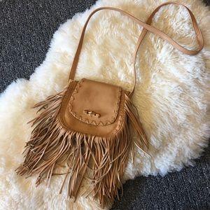 Faux Leather Tan Purse